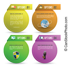 Business template circle options - Abstract business ...