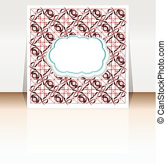 business templates for brochure, flyer or booklet. Hand drawn floral doodle pattern, abstract vector background