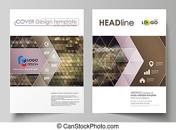 Business templates for brochure, magazine, flyer, annual...