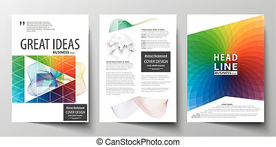 Brochure template for annual report, magazine cover page in ...
