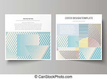 Business templates for square brochure, magazine, flyer, booklet or report. Leaflet cover, abstract vector layout. Minimalistic design with lines, geometric shapes forming beautiful background.