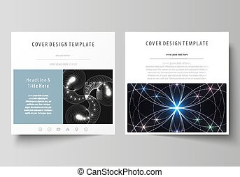 Business templates for square design brochure, magazine,...