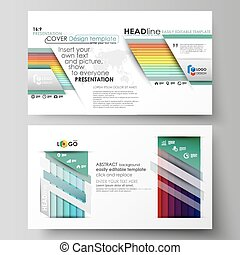 Business templates in HD format for presentation slides. Vector layouts in flat style. Bright color rectangles, colorful design with geometric rectangular shapes forming abstract beautiful background.