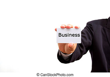 business, tenue, carte, homme