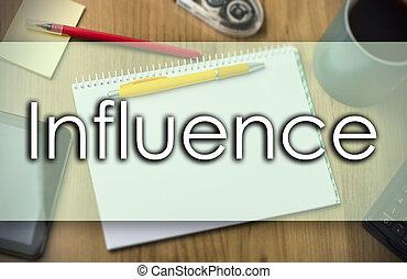 business, texte, influence, -, concept