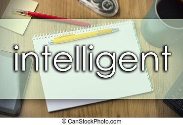 business, texte, -, intelligent, concept