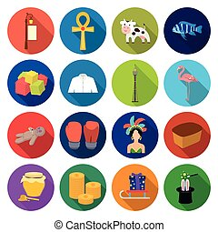 business, textiles, nature and other web icon in flat style. recreation, entertainment, restaurant, icons in set collection.