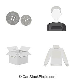 business, textiles, Salam and other web icon in monochrome...