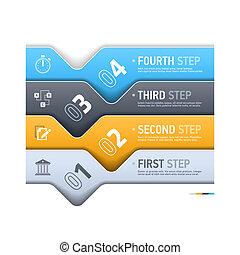 Business theme infographics element