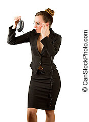 Business theme:  sexy successful  businesswoman in an office environment. More of this series on my portfolio