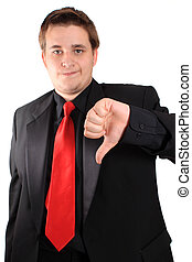 Business thumbs down