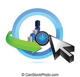 business time concept illustration