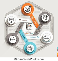 Business timeline infographic template. Vector illustration...