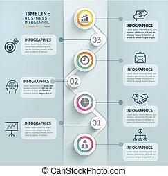 Business timeline infographics.