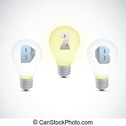 business to business light bulb illustration