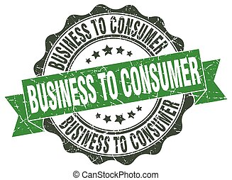 business to consumer stamp. sign. seal