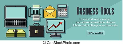 Business tools horizontal banner