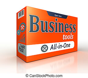 Business tools orange pack concept