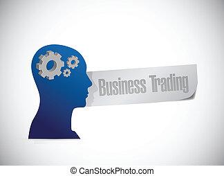 business trading sign illustration design