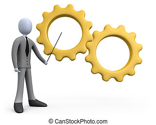 Business Training - Computer Generated Image - Business...