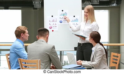 Experienced business workers undergoing advanced training