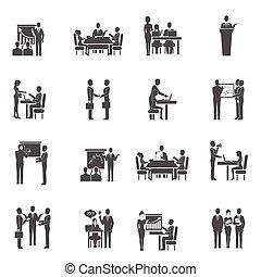 Business Training Icons Set