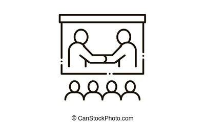 business training presentation Icon Animation
