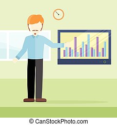 Business Training Vector Concept in Flat Design.