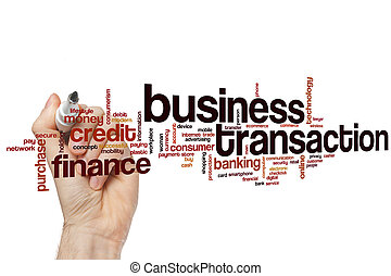 Business transaction word cloud concept