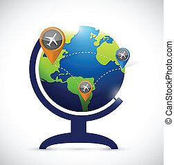 business transportation atlas map illustration design over a...