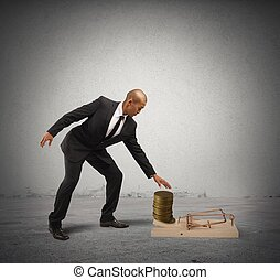 Business Trap - Concept of business trap with businessman...