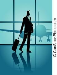 Business travel illustration