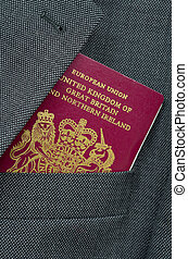 Travel Image Of A UK Passport - Business Travel Image Of A...