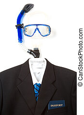 Business travel - A shot of a business suit and tie with...