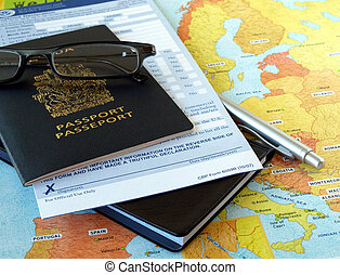 Business travel - Canada passport with business travel...
