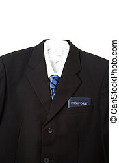 Business travel - An isolated shot of a business suit and...