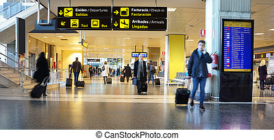 Business Travel - Airline Passengers in an International...