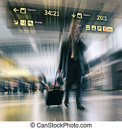 Business Travel - Airline Passengers at the Airport Business...