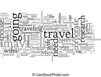 Business Travel With The Wife text background wordcloud concept