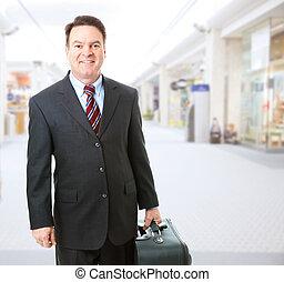 Business Traveler in Airport