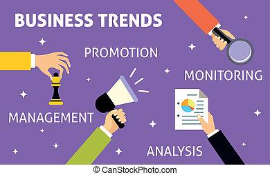 Business trends hands - Hands gestures of business trends...