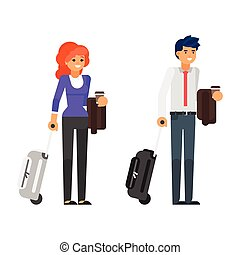 business trip characters