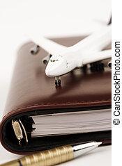 business trip - concept, focus point on nearest part of...