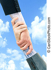 Business trust - Vertical image of business trust of two...