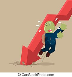 business turtle evading falling graphic