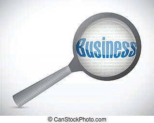business under magnify search investigation illustration...