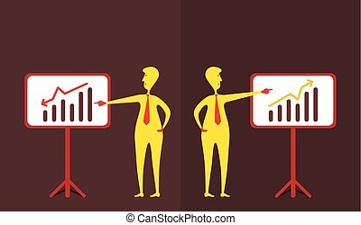 business up and down graph show