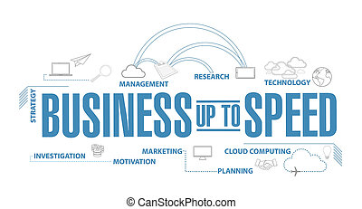 Business up to speed diagram plan concept