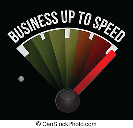 Business up to speed speedometer illustration