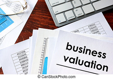 Business valuation written in a document